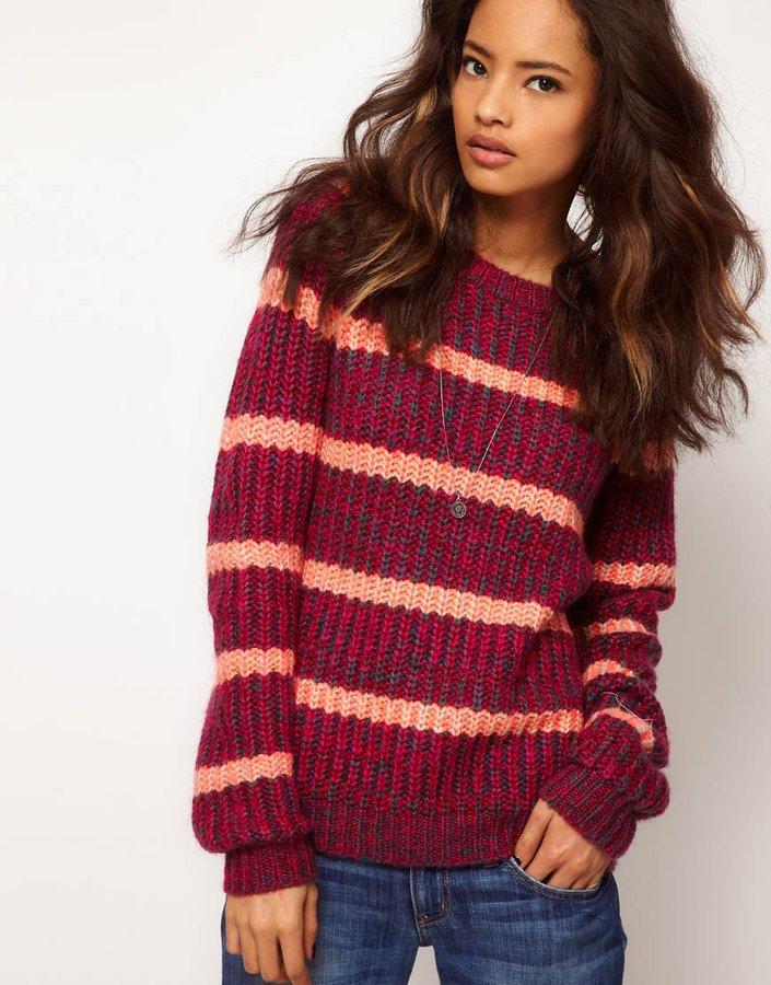 ASOS Stripe Twist Yarn Sweater