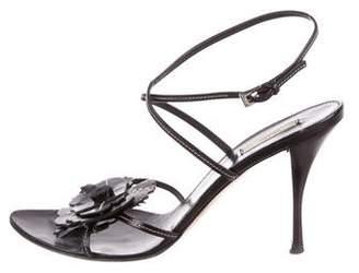Prada Leather Floral Sandals