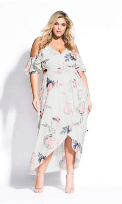 City Chic Citychic Pink Lily Maxi Dress - ivory