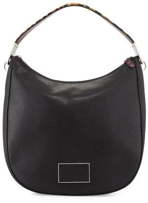 MARC by Marc Jacobs Ligero Leopard-Print-Strap Hobo Bag, Black/Multi $528 thestylecure.com