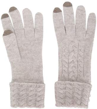 N.Peal cable knitted gloves