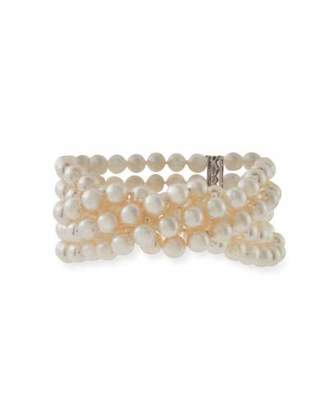 Assael Five-Row Akoya Pearl Bracelet