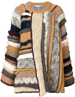 Stella McCartney oversized mixed yarn jumper