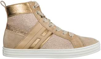 Hogan Girls Shoes Baby Child Sneakers Alte Camoscio R141