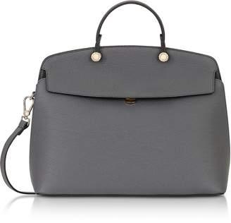 Furla Mercury Leather My Piper Medium Top Handle Satchel Bag
