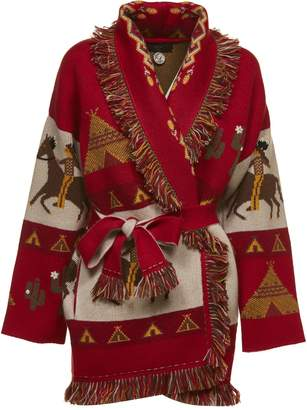 Alanui Embroidered Belted Cardigan