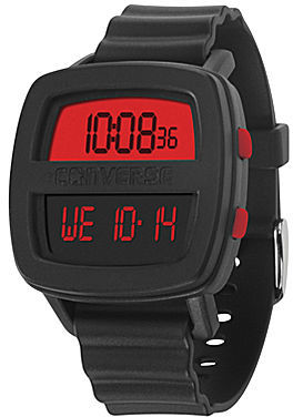Converse Re-Mix Black Silicone Watch