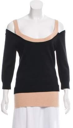 Michael Kors Cold-Shoulder Wool Sweater