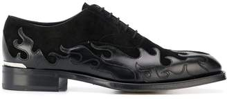 Alexander McQueen flame pattern oxford shoes