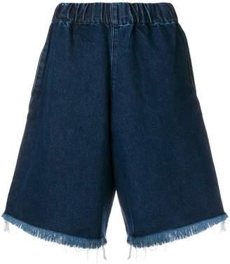Marques Almeida Marques'almeida frayed edges denim shorts