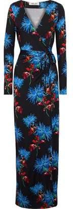 Diane von Furstenberg New Julian Floral-print Silk Maxi Wrap Dress
