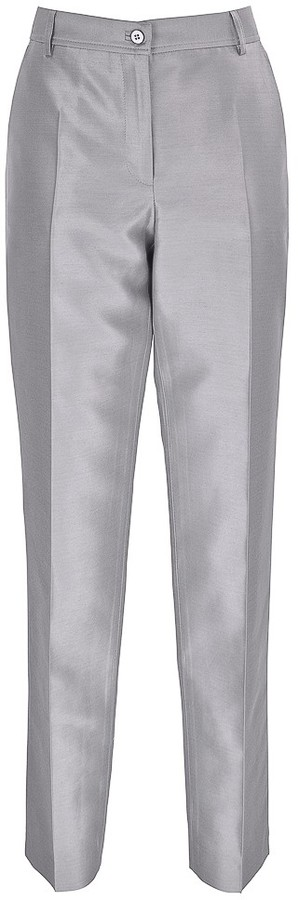 Cropped Satin Twill Trousers