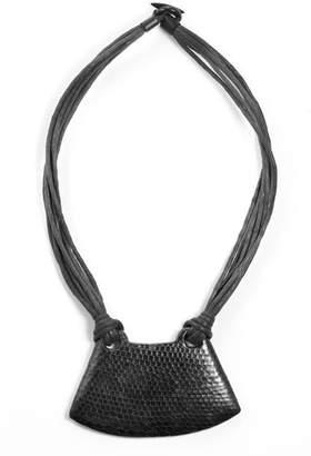 Josie Natori Snakeskin Necklace
