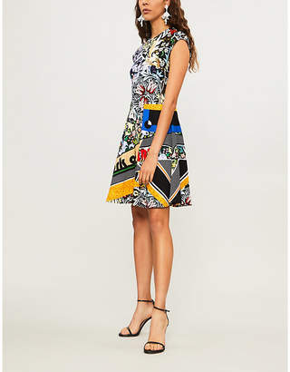 Mary Katrantzou Pinto abstract-print jersey dress