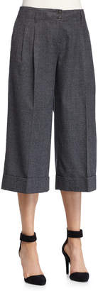 Michael Kors Plaid Flannel Pleated Culottes