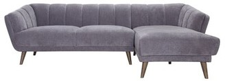Chanel Sofa Web Menlo Grey Mid Century Modern Tufted Sectional Sofa Left Sofa Web
