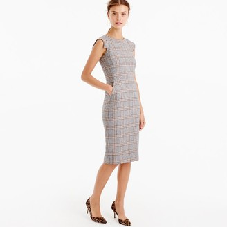 Cap-sleeve dress in glen plaid $148 thestylecure.com