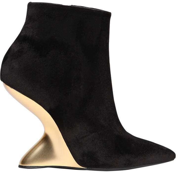 105mm Bolgheri Velvet Ankle Boots