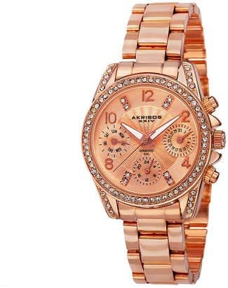 Akribos XXIV Unisex Rose Goldtone Bracelet Watch-A-710rg