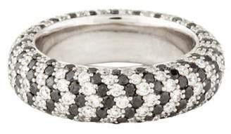Ring 18K Black & White Diamond Eternity Band