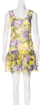 Anna Sui Floral Silk Mini Dress w/ Tags