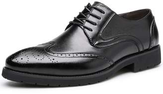 Leroy Alexis Leather Lace Up Oxfords Wing Tips Modern Men's Derby Shoes