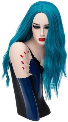 styling/ Ai.Moichien Pink Long Wavy Wigs Heat Resistant Synthetic Full Wig Fancy Halloween Party Wig Cap