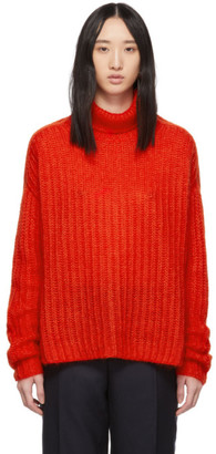 Marni Red Mohair Turtleneck