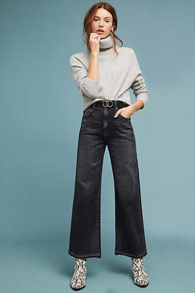 Amo Ava Ultra High-Rise Cropped Wide-Leg Jeans