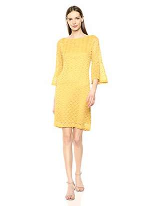 Sharagano Women's Bell Sleeve Dress