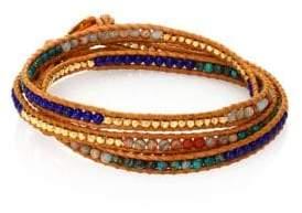 Chan Luu Sodalite& Agate Wrap Bracelet