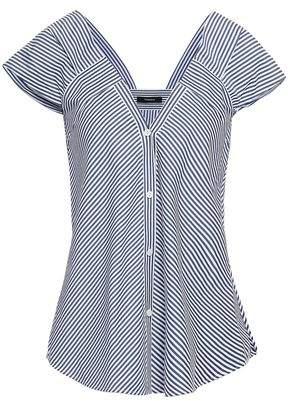 Theory Striped Cotton-poplin Shirt