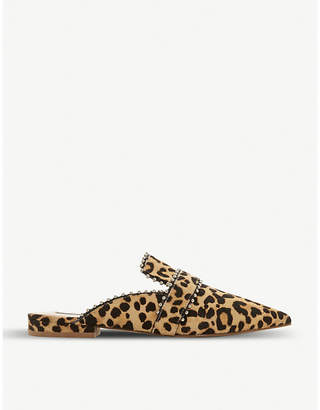Steve Madden Wind-L Sm leopard-print ponyhair loafer mules