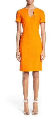 Women's St. John Collection Ribbon Texture Knit Dress $995 thestylecure.com