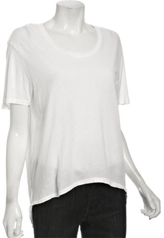 Joe's Jeans white cotton 'Tux' scoop neck t-shirt