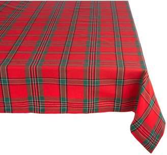 "Design Imports Classic Rectangle Holiday Plaid Kitchen Tablecloth, 120"" x 60"", 100% Cotton, Multicolored"