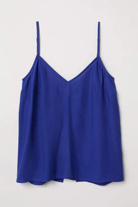 H&M Open-back Camisole Top - Blue