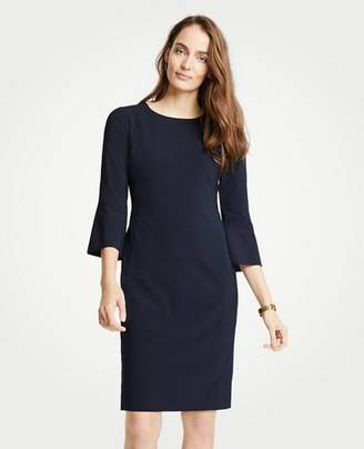 Ann Taylor Petite Seasonless Stretch Fluted Sleeve Sheath Dress