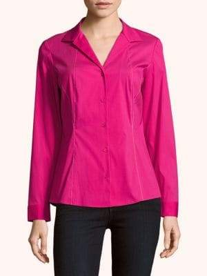 Lafayette 148 New York Zoey Button-Front Blouse