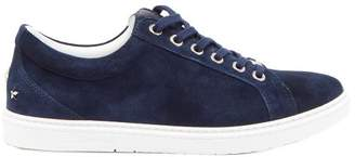 Jimmy Choo Cash Low Top Suede Trainers - Mens - Navy