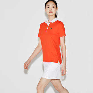 Lacoste Women's SPORT Golf Tech Honeycomb Knit Polo