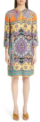 Etro Harlem Paisley Print Cloque Tunic Dress