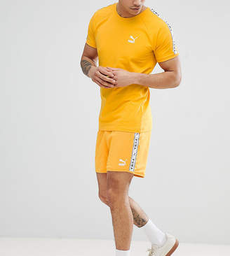 Puma Shorts With Taped Side Stripe In Yellow Exclusive To ASOS