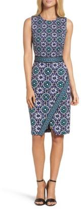 Women's Maggy London Jewel Tile Jersey Sheath Dress $128 thestylecure.com