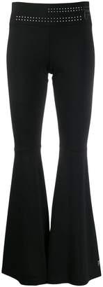 Fila embellished waistband flared trousers
