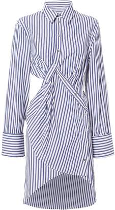 Marques Almeida Marques' Almeida Cutout Striped Shirt Dress