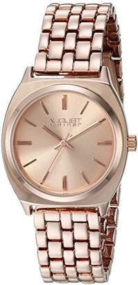 August Steiner Women's AS8186RG Rose Gold Quartz Watch with Rose Gold Dial and Rose Gold Bracelet