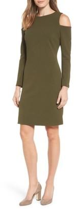 Petite Women's Halogen Knit Cold Shoulder Dress $79 thestylecure.com