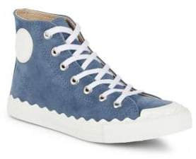 Suede Round Toe Sneakers