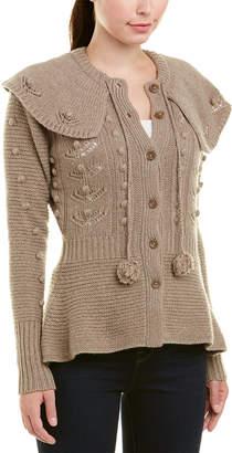 Autumn Cashmere Popcorn Wool & Cashmere-Blend Capelet